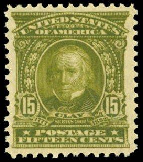 Values of US Stamp Scott #309: 15c 1903 Henry Clay. Daniel Kelleher Auctions, Sep 2014, Sale 655, Lot 380