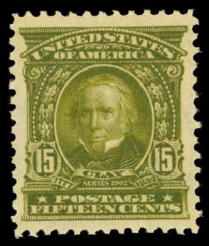 US Stamp Value Scott Catalogue 309: 15c 1903 Henry Clay. Daniel Kelleher Auctions, Oct 2014, Sale 660, Lot 2310