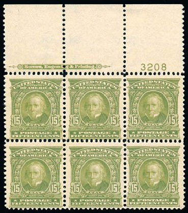 Values of US Stamp Scott Catalog #309: 1903 15c Henry Clay. Schuyler J. Rumsey Philatelic Auctions, Apr 2015, Sale 60, Lot 2900