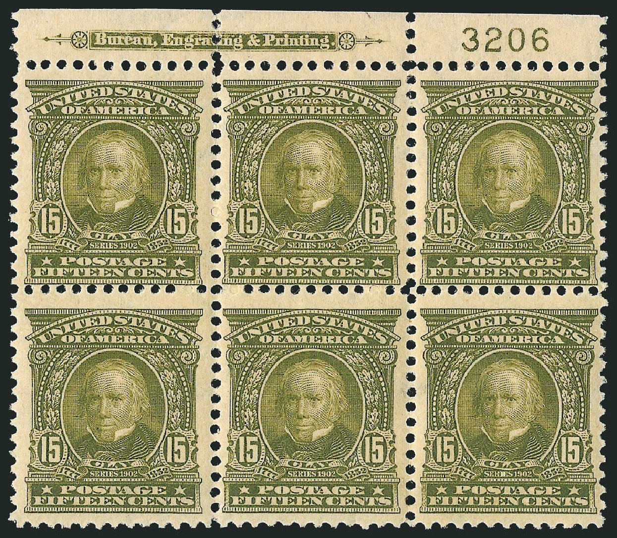 Price of US Stamps Scott Cat. #309: 1903 15c Henry Clay. Robert Siegel Auction Galleries, Feb 2015, Sale 1093, Lot 20