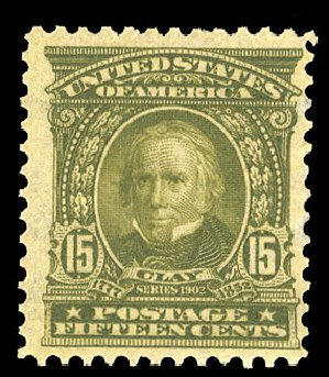 US Stamps Prices Scott Catalogue #309 - 15c 1903 Henry Clay. Cherrystone Auctions, Mar 2015, Sale 201503, Lot 42