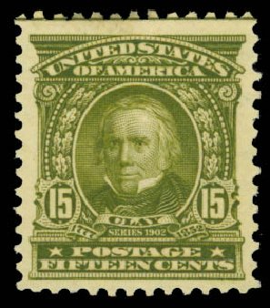 Price of US Stamp Scott # 309 - 15c 1903 Henry Clay. Daniel Kelleher Auctions, Sep 2014, Sale 655, Lot 382