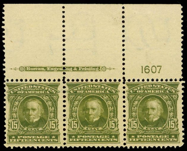 US Stamps Values Scott 309: 1903 15c Henry Clay. Daniel Kelleher Auctions, Sep 2014, Sale 655, Lot 383
