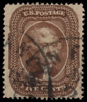 Values of US Stamps Scott 30A - 5c 1860 Jefferson. Daniel Kelleher Auctions, May 2015, Sale 669, Lot 2459