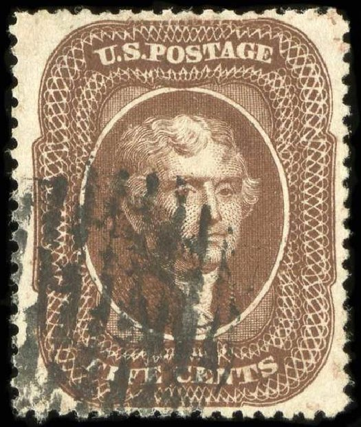 US Stamps Value Scott Catalog 30A: 5c 1860 Jefferson. Spink Shreves Galleries, Jul 2015, Sale 151, Lot 49