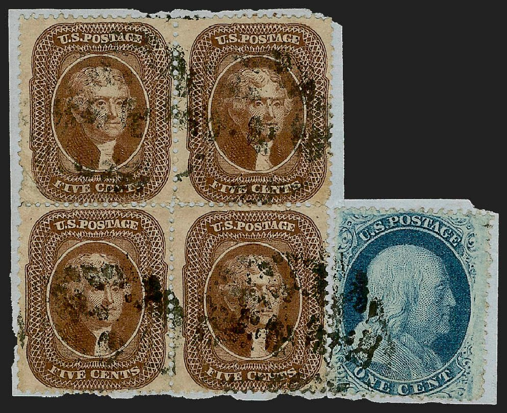 US Stamp Prices Scott # 30A: 5c 1860 Jefferson. Robert Siegel Auction Galleries, Jul 2015, Sale 1107, Lot 93