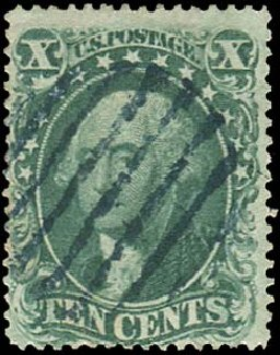 Prices of US Stamp Scott 31: 10c 1857 Washington. Regency-Superior, Aug 2015, Sale 112, Lot 121