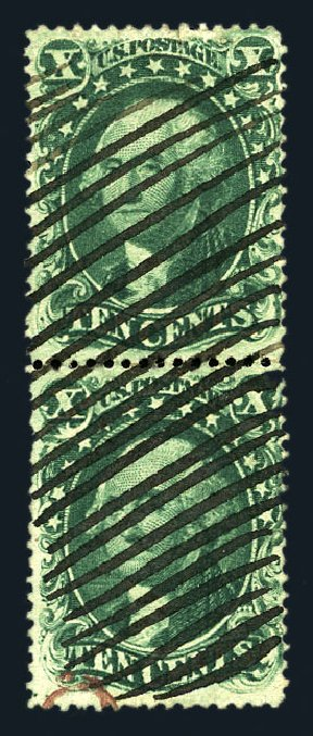 US Stamps Prices Scott Catalogue #31 - 1857 10c Washington. Harmer-Schau Auction Galleries, Aug 2015, Sale 106, Lot 1364