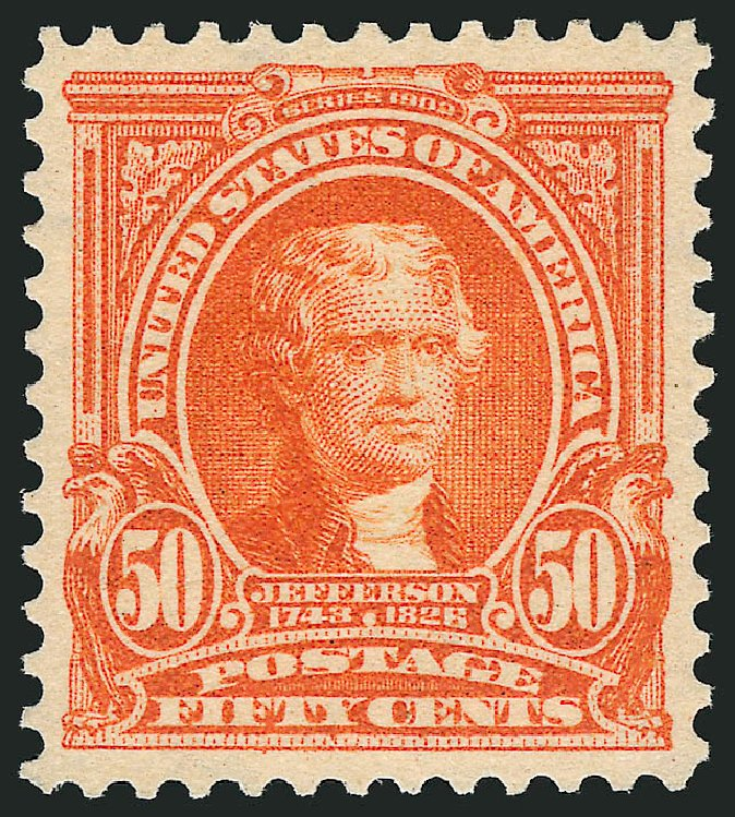 US Stamp Price Scott Cat. # 310: 50c 1903 Jefferson. Robert Siegel Auction Galleries, Jun 2015, Sale 1106, Lot 3148