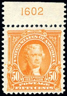 Prices of US Stamp Scott Cat. #310 - 1903 50c Jefferson. Schuyler J. Rumsey Philatelic Auctions, Apr 2015, Sale 60, Lot 2780