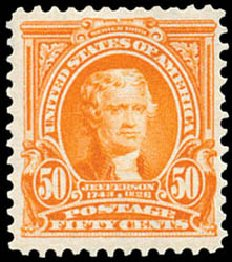Values of US Stamp Scott #310 - 1903 50c Jefferson. Schuyler J. Rumsey Philatelic Auctions, Apr 2015, Sale 60, Lot 2314