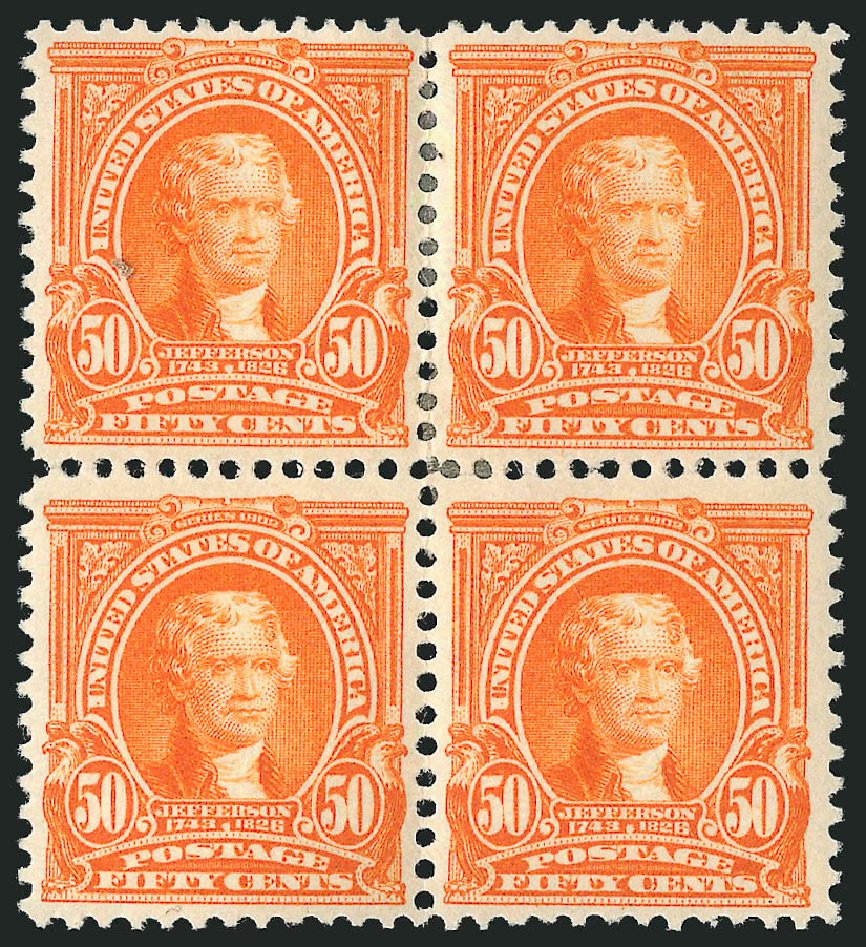 US Stamps Values Scott Catalogue #310: 50c 1903 Jefferson. Robert Siegel Auction Galleries, Apr 2015, Sale 1096, Lot 542