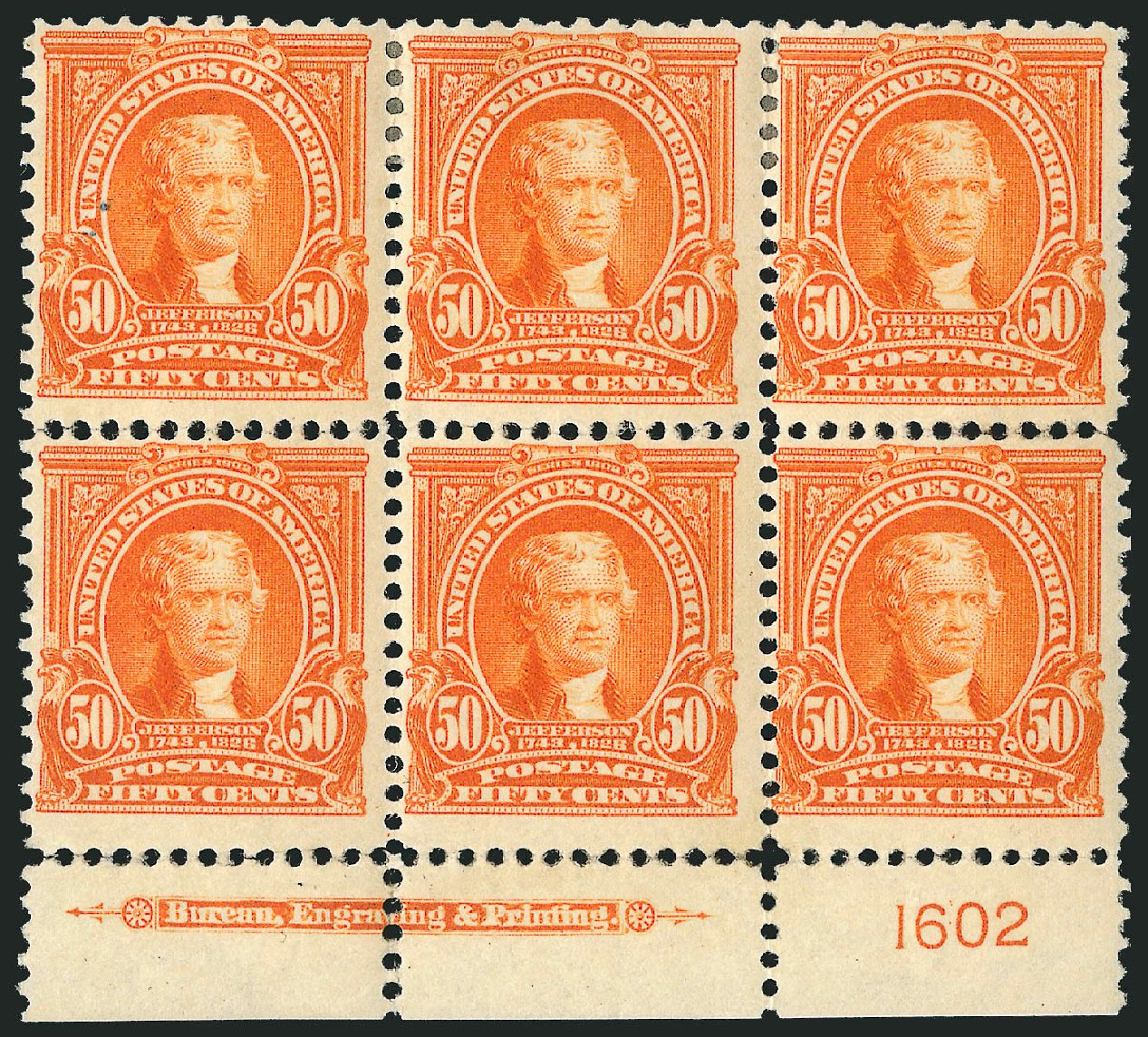 Value of US Stamp Scott Cat. #310 - 1903 50c Jefferson. Robert Siegel Auction Galleries, Feb 2015, Sale 1093, Lot 23