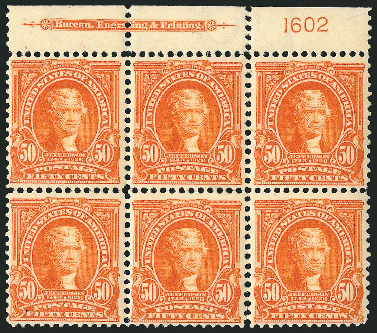 Price of US Stamp Scott Cat. # 310 - 50c 1903 Jefferson. Robert Siegel Auction Galleries, Apr 2015, Sale 1096, Lot 543