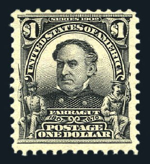 Price of US Stamps Scott Cat. # 311 - US$1.00 1903 Farragut. Harmer-Schau Auction Galleries, Aug 2015, Sale 106, Lot 1738