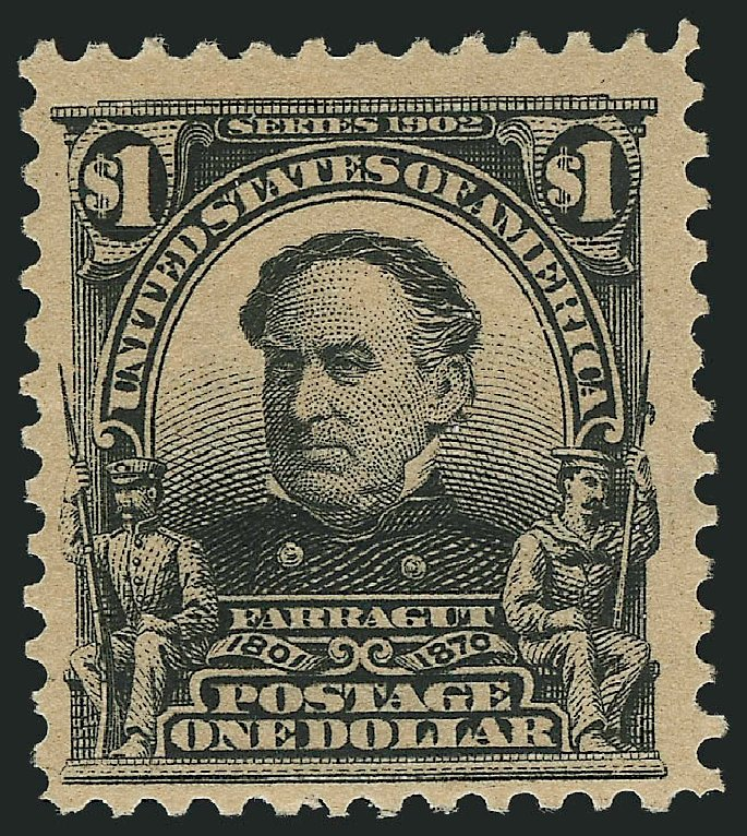 Prices of US Stamps Scott Cat. # 311 - 1903 US$1.00 Farragut. Robert Siegel Auction Galleries, Jul 2015, Sale 1107, Lot 411