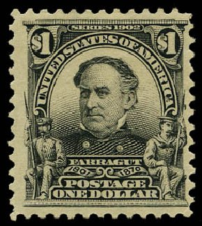 Cost of US Stamps Scott Cat. #311: US$1.00 1903 Farragut. Daniel Kelleher Auctions, May 2015, Sale 669, Lot 2862