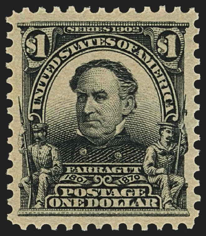 Values of US Stamp Scott 311: 1903 US$1.00 Farragut. Robert Siegel Auction Galleries, Jul 2015, Sale 1107, Lot 412