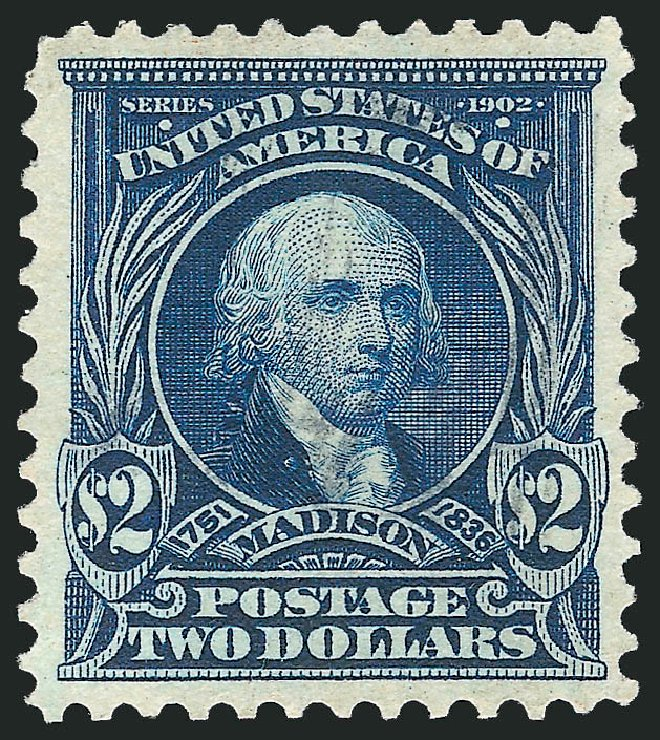 Values of US Stamps Scott #312 - US$2.00 1903 Madison. Robert Siegel Auction Galleries, Apr 2015, Sale 1096, Lot 547