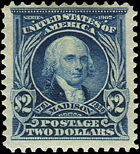 Values of US Stamps Scott #312: 1903 US$2.00 Madison. Regency-Superior, Aug 2015, Sale 112, Lot 669