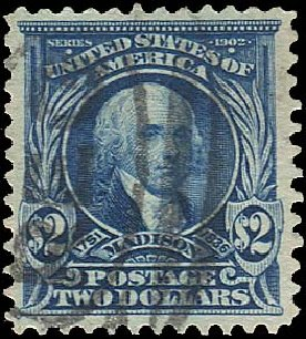 Values of US Stamp Scott Catalogue 312 - US$2.00 1903 Madison. Regency-Superior, Aug 2015, Sale 112, Lot 670