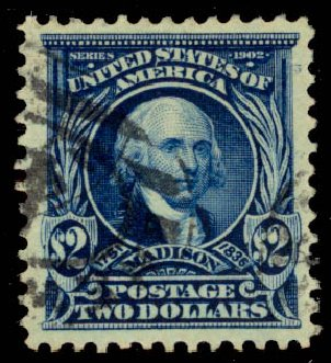Values of US Stamp Scott 312 - 1903 US$2.00 Madison. Daniel Kelleher Auctions, May 2015, Sale 669, Lot 2864