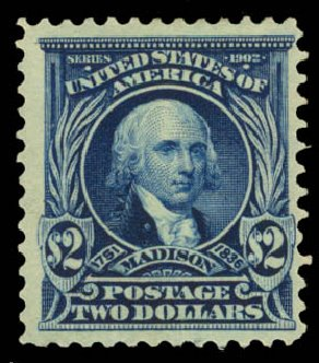 US Stamp Value Scott 312: US$2.00 1903 Madison. Daniel Kelleher Auctions, May 2015, Sale 669, Lot 2863