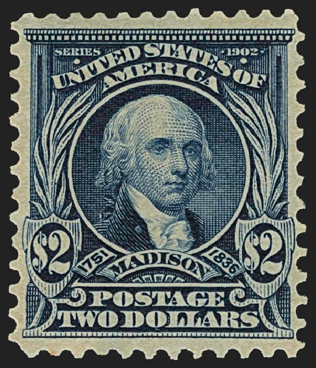 Value of US Stamps Scott Catalogue 312: 1903 US$2.00 Madison. Robert Siegel Auction Galleries, Jul 2015, Sale 1107, Lot 416