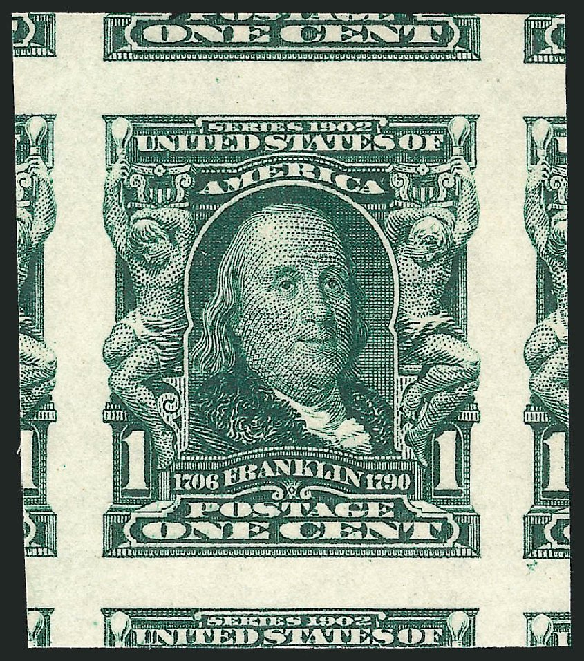 Prices of US Stamp Scott Catalog 314 - 1c 1906 Franklin Imperf. Robert Siegel Auction Galleries, Nov 2012, Sale 1034, Lot 307