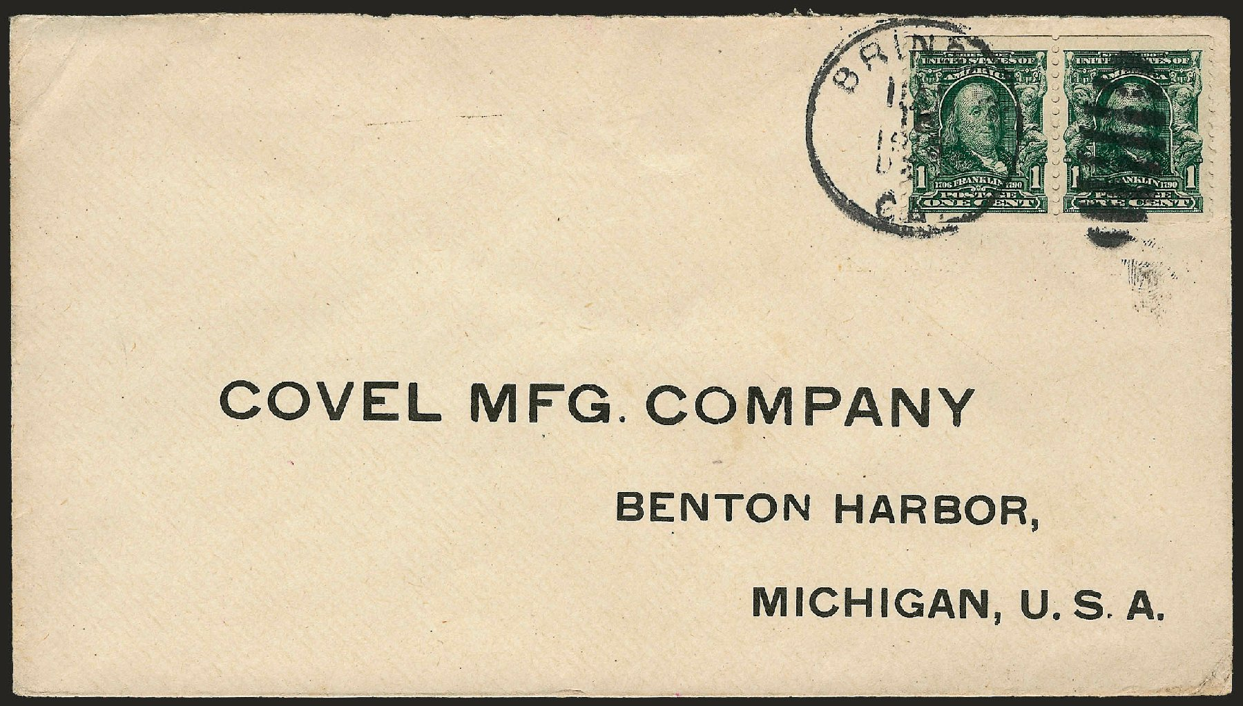 Value Of Us Stamps Scott Cat 314 1906 1c Franklin Imperf