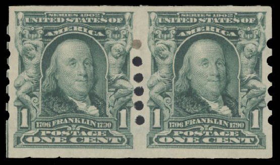 Costs of US Stamp Scott Catalogue # 314: 1906 1c Franklin Imperf. Daniel Kelleher Auctions, Aug 2015, Sale 672, Lot 2621