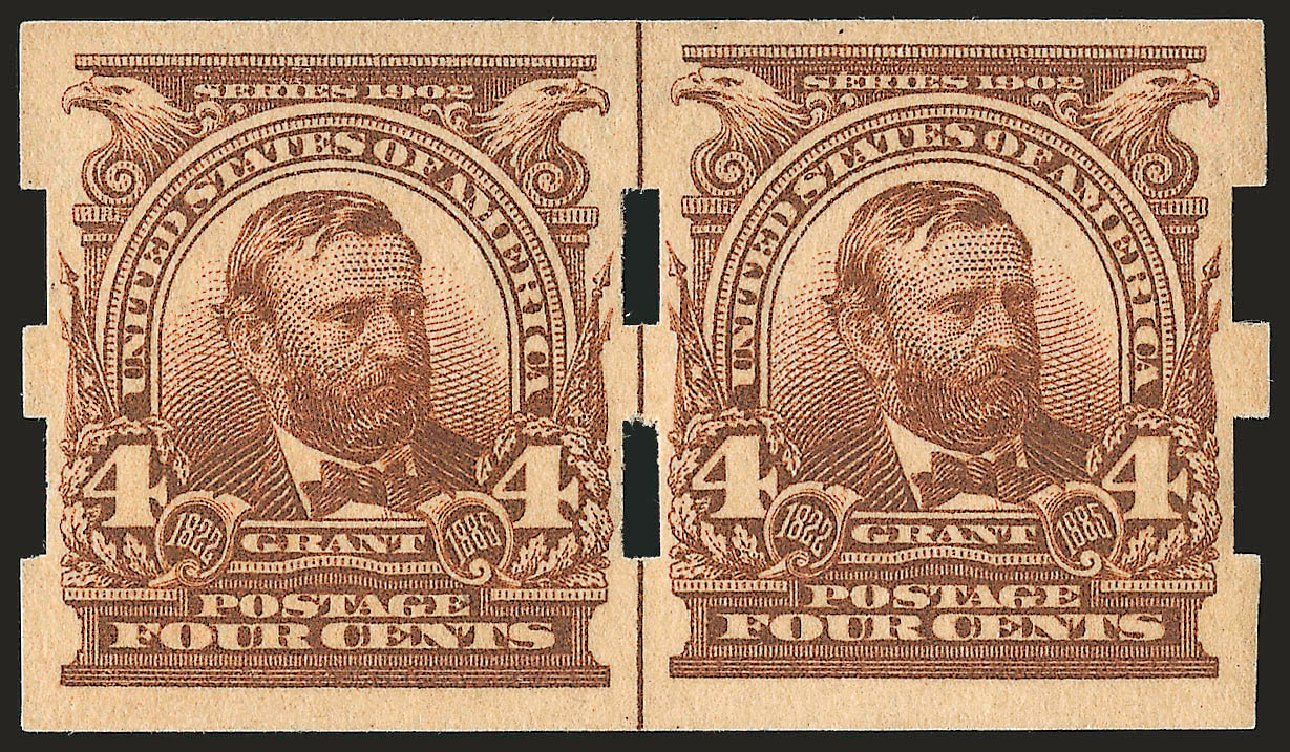 Costs of US Stamp Scott Catalog 314A - 1908 4c Grant Imperf. Robert Siegel Auction Galleries, Sep 2009, Sale 968B, Lot 388