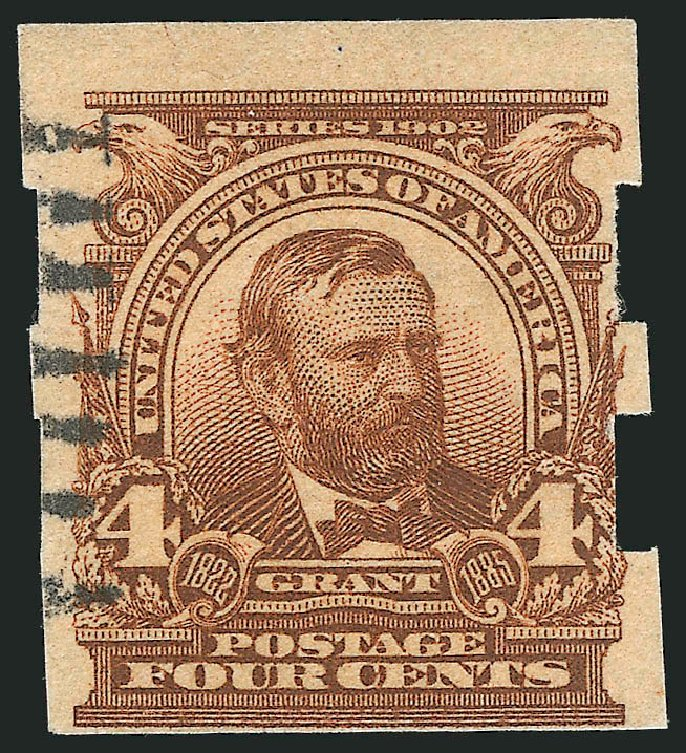 Values of US Stamp Scott Catalog # 314A - 1908 4c Grant Imperf. Robert Siegel Auction Galleries, Feb 2015, Sale 1093, Lot 40
