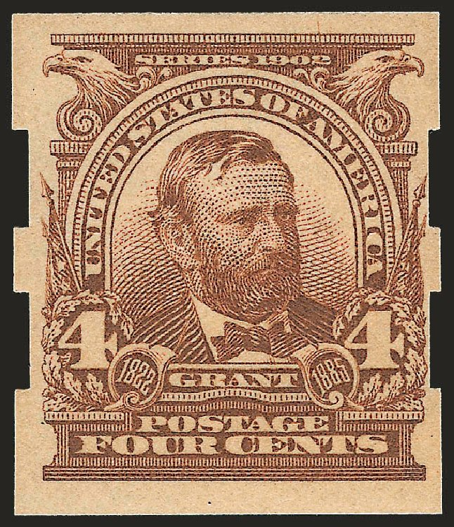 US Stamp Price Scott Catalogue # 314A - 1908 4c Grant Imperf. Robert Siegel Auction Galleries, Sep 2009, Sale 968B, Lot 390