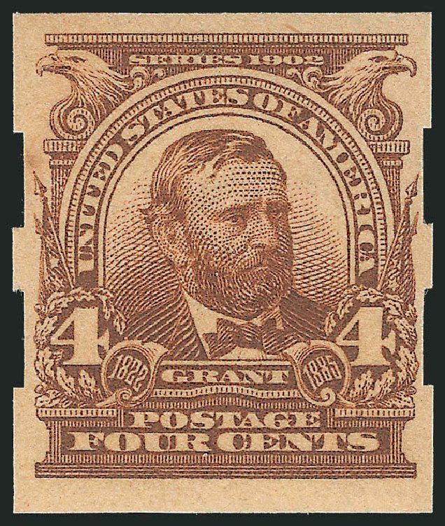 Cost of US Stamps Scott 314A - 1908 4c Grant Imperf. Robert Siegel Auction Galleries, Apr 2015, Sale 1096, Lot 552