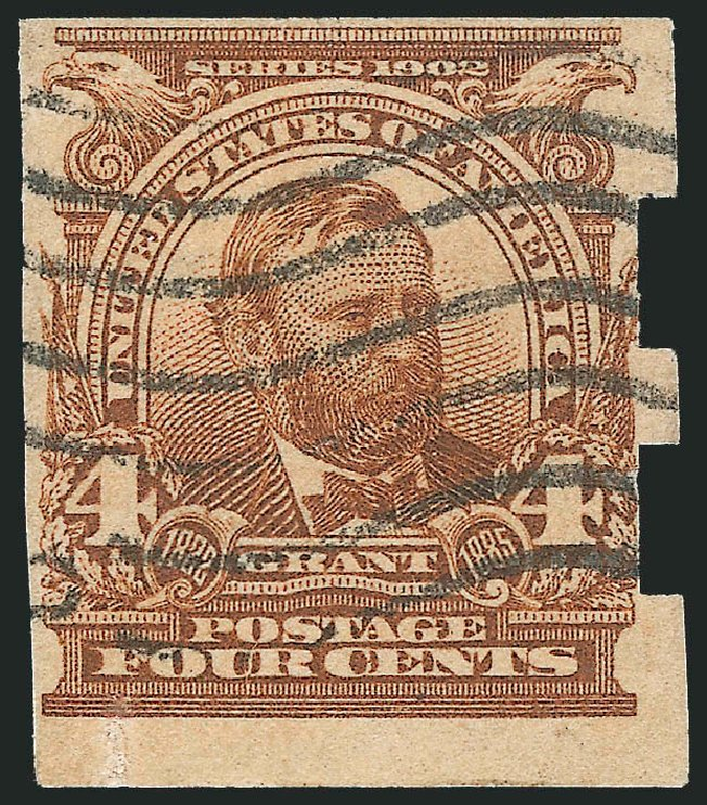 Cost of US Stamp Scott Cat. 314A: 1908 4c Grant Imperf. Robert Siegel Auction Galleries, Feb 2010, Sale 983, Lot 202