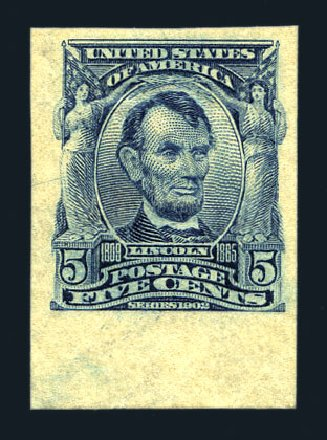 US Stamps Value Scott Catalog 315 - 1908 5c Lincoln Imperf. Harmer-Schau Auction Galleries, Aug 2015, Sale 106, Lot 1741