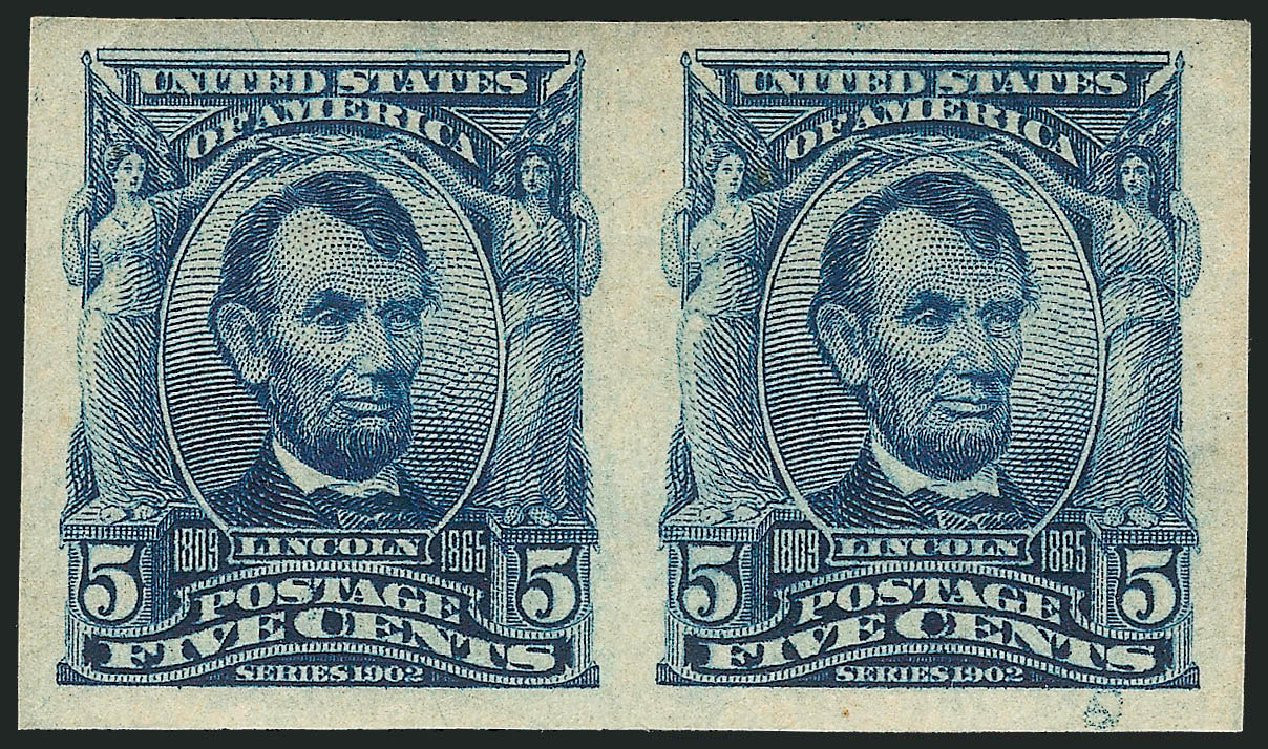 Costs of US Stamp Scott #315: 1908 5c Lincoln Imperf. Robert Siegel Auction Galleries, Apr 2015, Sale 1096, Lot 554