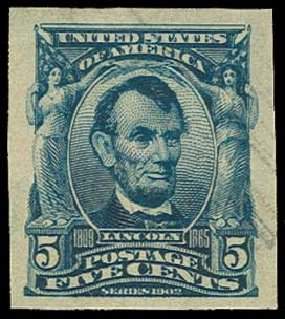 Prices of US Stamp Scott Catalog # 315: 5c 1908 Lincoln Imperf. H.R. Harmer, Jun 2015, Sale 3007, Lot 3303