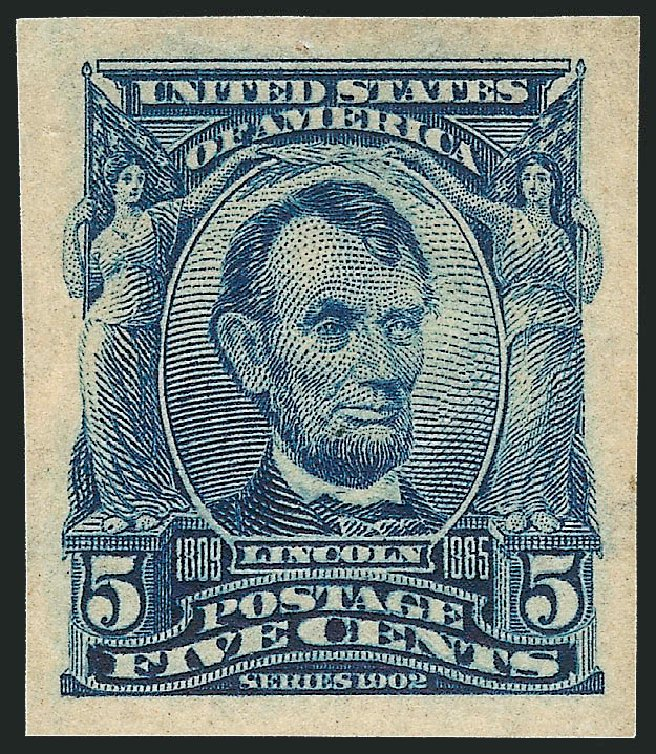 Price of US Stamp Scott Catalogue #315 - 1908 5c Lincoln Imperf. Robert Siegel Auction Galleries, Apr 2015, Sale 1096, Lot 553