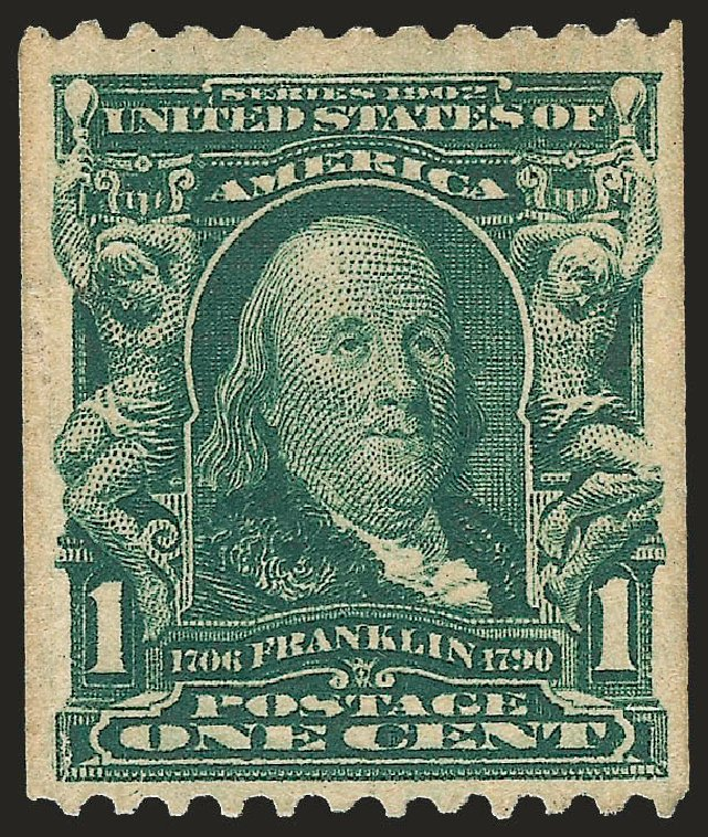 Price of US Stamp Scott #316 - 1c 1908 Franklin Coil. Robert Siegel Auction Galleries, Sep 2009, Sale 968B, Lot 395