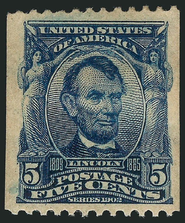 Costs of US Stamps Scott Catalog #317 - 1908 5c Lincoln Coil. Robert Siegel Auction Galleries, Feb 2015, Sale 1093, Lot 47