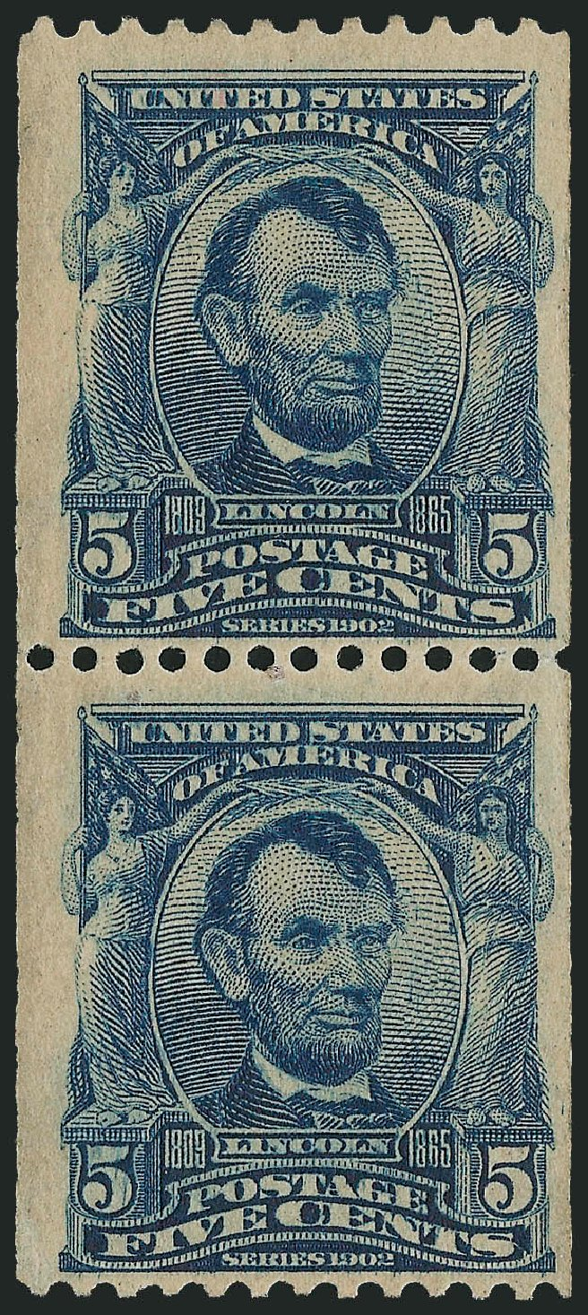 US Stamp Price Scott Catalog #317: 5c 1908 Lincoln Coil. Robert Siegel Auction Galleries, May 2013, Sale 1044, Lot 239