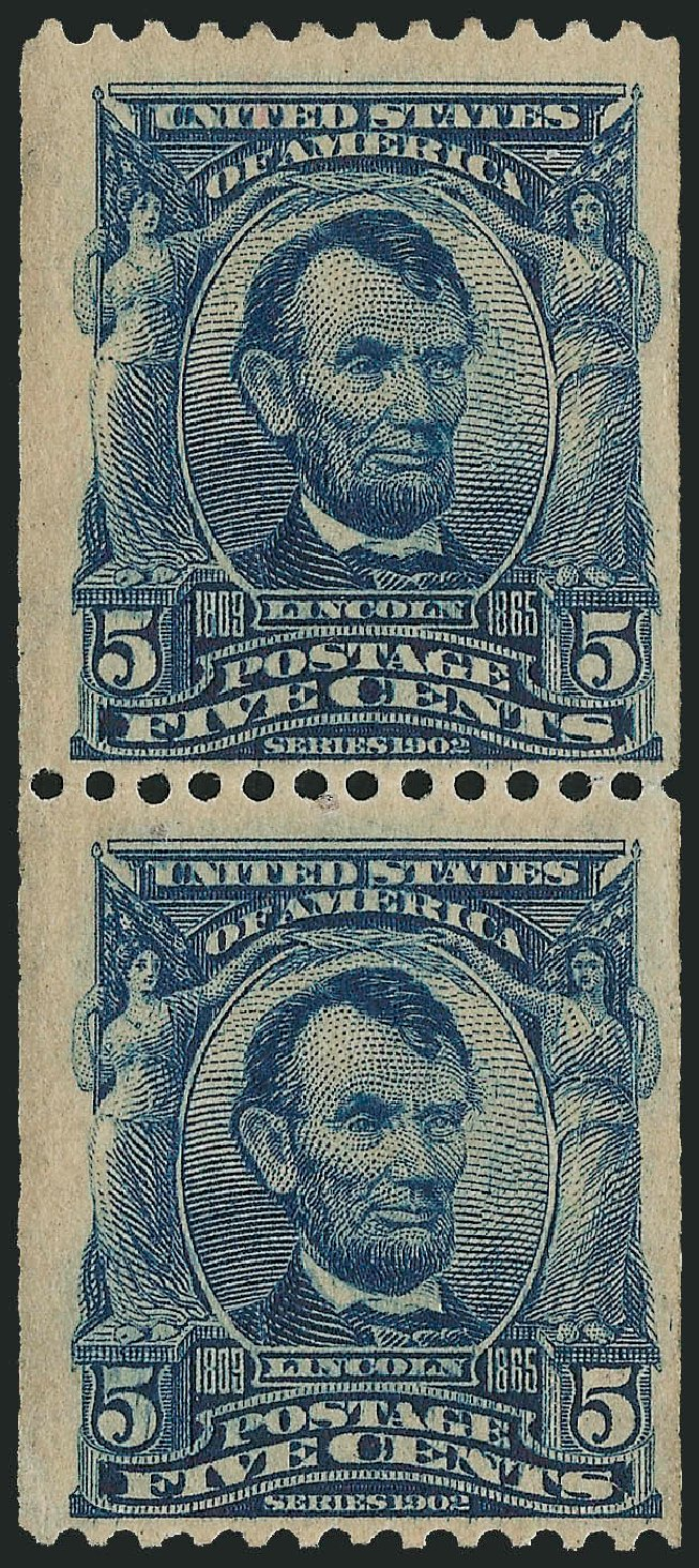 US Stamp Prices Scott Catalog # 317: 1908 5c Lincoln Coil. Robert Siegel Auction Galleries, Dec 2014, Sale 1090, Lot 1436