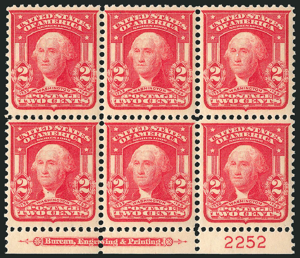 Costs of US Stamps Scott Catalog 319: 2c 1903 Washington. Robert Siegel Auction Galleries, Apr 2015, Sale 1096, Lot 561