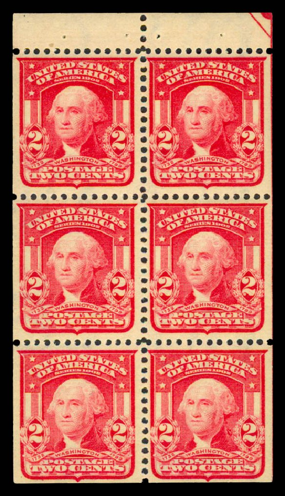 US Stamps Values Scott Catalog # 319: 1903 2c Washington. Daniel Kelleher Auctions, May 2015, Sale 669, Lot 2874