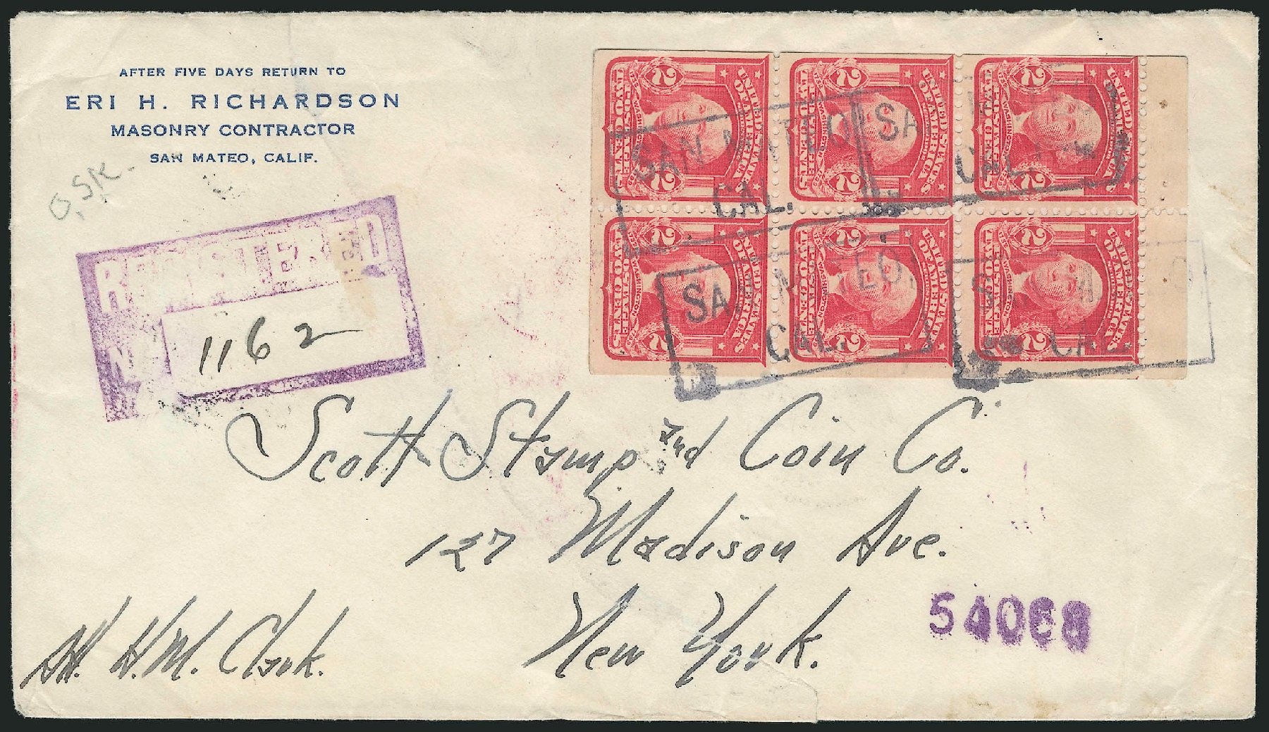 Cost of US Stamps Scott Cat. #319 - 1903 2c Washington. Robert Siegel Auction Galleries, Feb 2015, Sale 1093, Lot 54