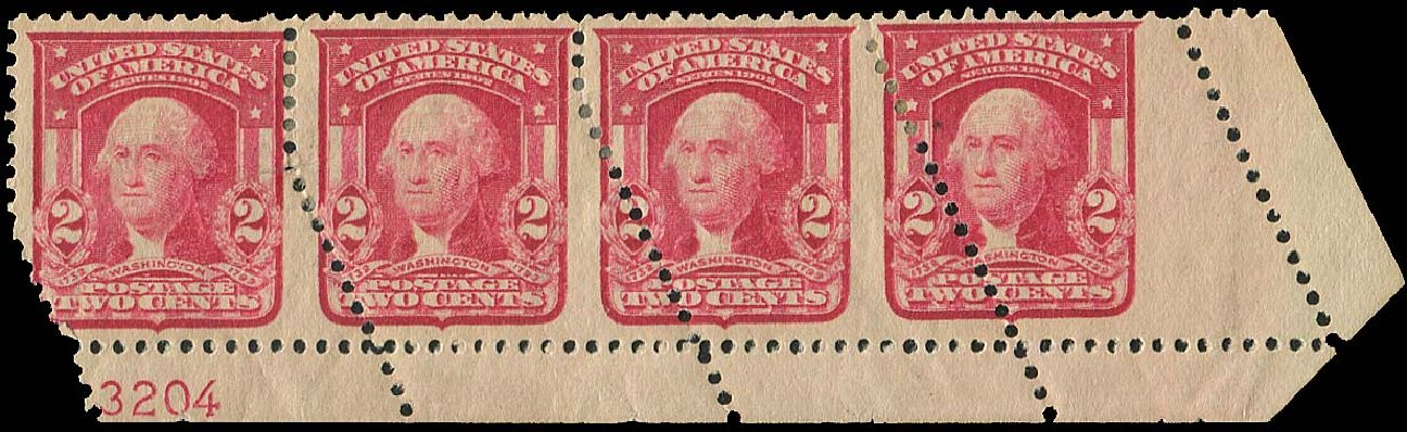 Values of US Stamp Scott # 319 - 1903 2c Washington. Regency-Superior, Aug 2015, Sale 112, Lot 1542