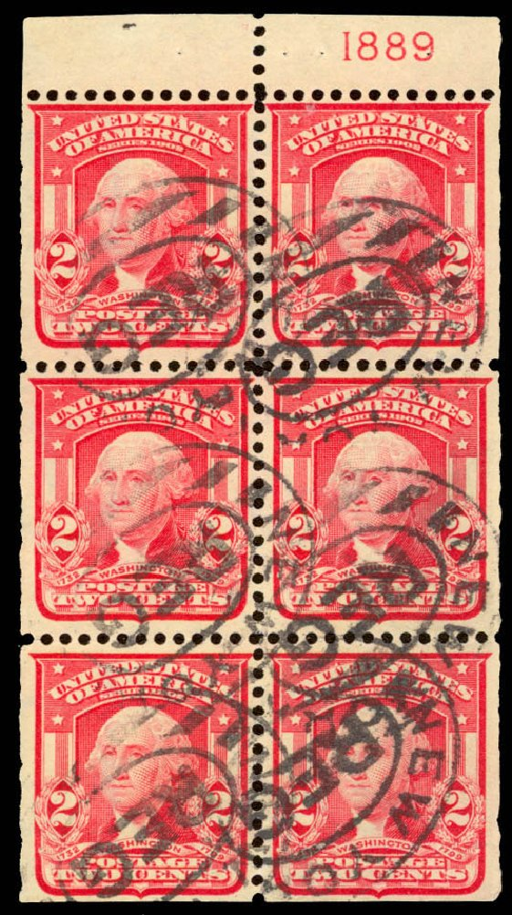 Value of US Stamps Scott # 319: 2c 1903 Washington. Daniel Kelleher Auctions, Jan 2015, Sale 663, Lot 1636