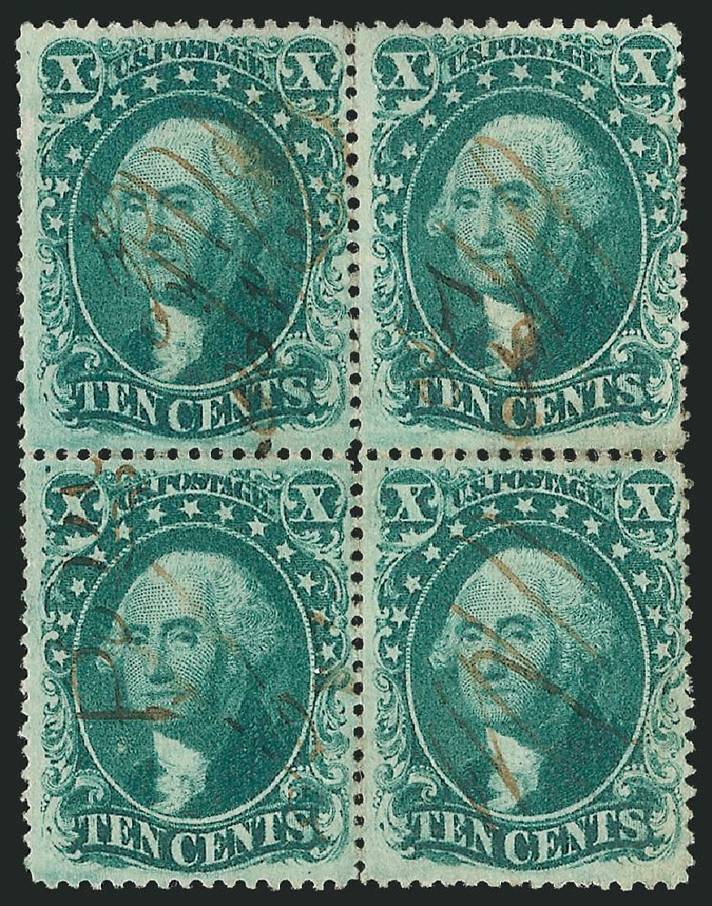 US Stamps Prices Scott Cat. # 32 - 1857 10c Washington. Robert Siegel Auction Galleries, Nov 2014, Sale 1084, Lot 3154
